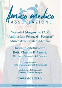 Incontro-dibattito con: Dott. Claudio D'Amario Direttore Generale Asl Pescara