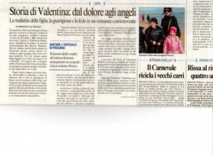 Il Messaggero - Storia di Valentina: dal dolore agli angeli